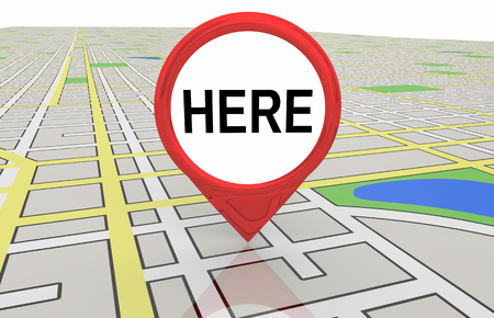 Here Map Pin This Location Navigation 3d Illustration