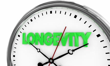 Longevity Lasting Over Time Clock 3d Illustration 写真素材