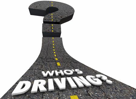 Whos Driving Travel Road Steering Leader 3d Illustration