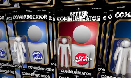 Better Communicator Top Best Communication Figures 3d Illustration