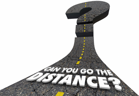 Can You Go the Distance Question Mark Road 3d Illustration