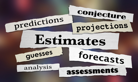 Estimates Predictions Forecasts News Headlines 3d Illustration