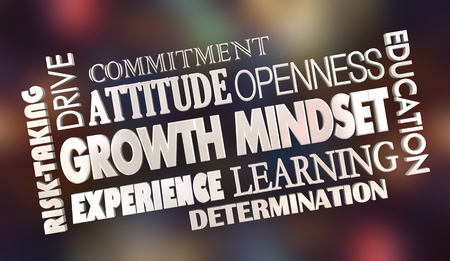 Growth Mindset Learning Achieve Success Words 3d Illustration