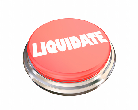 Liquidate Press Red Button Sell Off Cash Out 3d Illustration