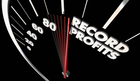 Record Profits Higher Income Money Earned Speedometer 3d Illustration