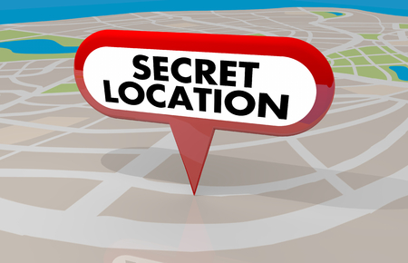 Secret Location Protected Hidden Classified Map Pin 3d Illustration