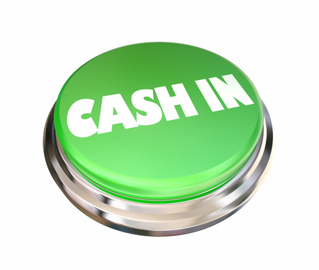 Cash In Button Income Profit Revenue 3d Illustration