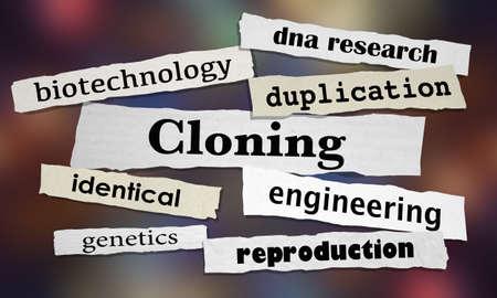 Cloning Biotechnology Clone Newspaper Headlines 3d Illustration Stock Photo
