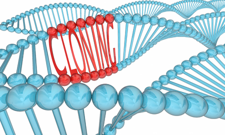 Cloning DNA Strand Biology Clone Research 3d Illustration