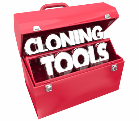 Cloning Tools Biotechnology Research Toolbox 3d Illustration 写真素材