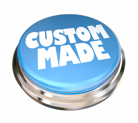 Custom Made Blue Button Special Order 3d Illustration