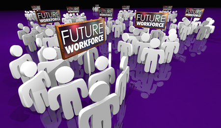 Future Workforce Sign People Staff 3d Illustration Banque d'images - 112280057