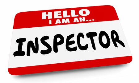 Hello Inspector Name Tag Home Inspection 3d Illustration