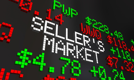 Sellers Market Time High Prices Demand Ticker 3d Illustration