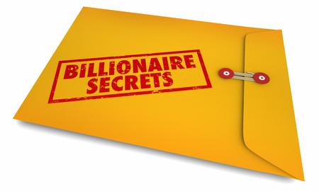 Billionaire Secrets Envelope Stamped Information 3d Illustration
