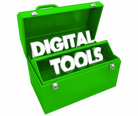 Digital Tools Online Web Mobility Toolbox 3d Illustration