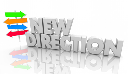 New Direction Arrow Signs Words 3d Illustration Stock Illustration - 113340769
