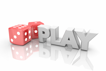 Play Dice Game Chance Gamble Word 3d Illustration