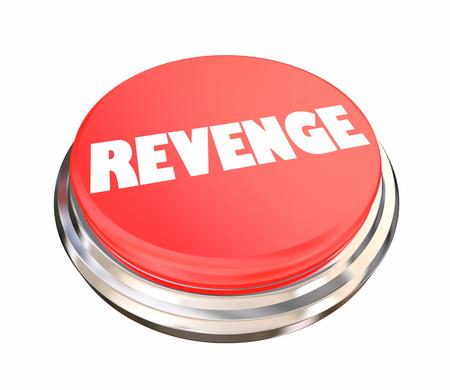 Revenge Button Get Even Vengeance 3d Illustration Banco de Imagens - 113340776