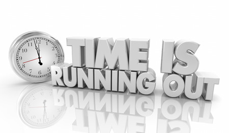 Time is Running Out Clock Deadline Words 3d Illustration Foto de archivo - 113340784
