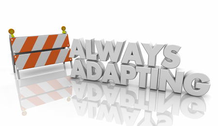 Always Adapting Constinuous Growth Improvement Words 3d Illustration