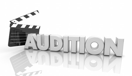 Audition Movie Clapper Board Tryout for Film Role 3d Illustration