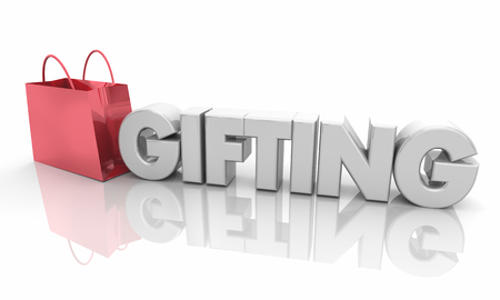 Gifting Shopping Bag Buy Presents 3d Illustration
