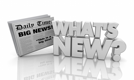 Whats New Headlines Newspaper Delivery 3d Illustration Imagens