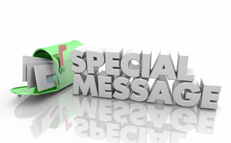 Special Message Mailbox Letters Delivery Words 3d Illustration Stock Photo