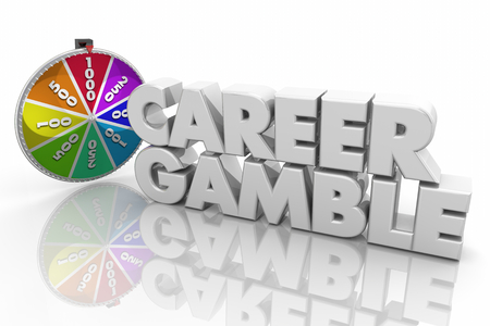 Career Gamble Take Chance Spin Wheel New Job 3d Illustration Stock Photo