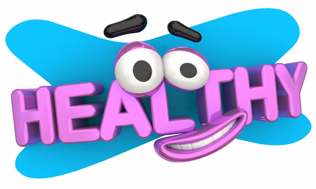Healthy Cartoon Face Smile Physical Fitness 3d Illustration