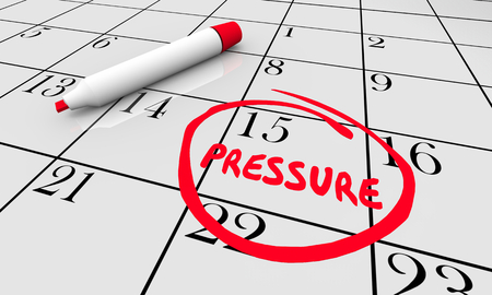 Pressure Stress Date Day Circled Calendar Word 3d Illustration