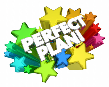 Perfect Plan Idea Strategy Stars Words 3d Illustration