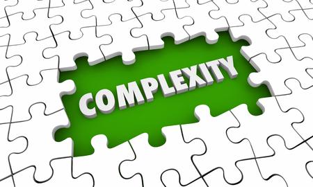 Complexity Complications Puzzle Pieces Hole 3d Illustration