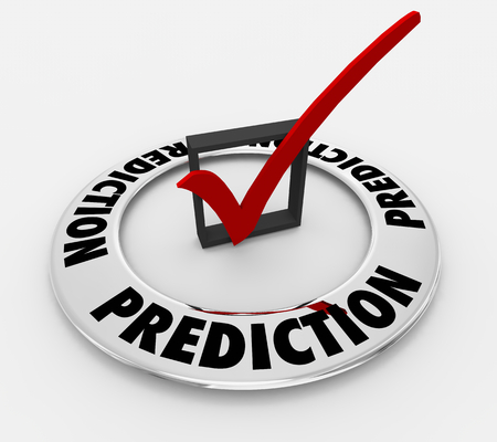 Prediction Forecast Word Check Mark Box 3d Illustration