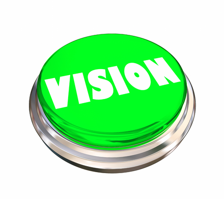 Vision Sight Look Forward Round Button Word 3d Illustration Imagens