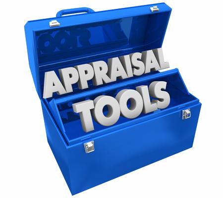 Appraisal Tools Review Assessment Toolbox Words 3d Illustration 版權商用圖片