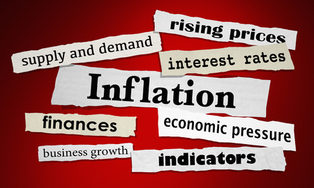Inflation Economy Interest Rates Financial News Headlines 3d Illustration