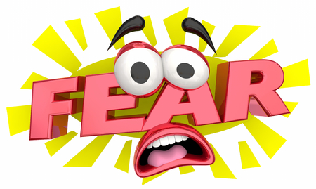Fear Afraid Cartoon Face Terror 3d Illustration