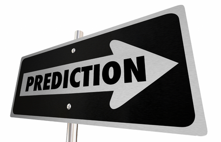 Prediction Future Prophecy One Way Road Sign 3d Illustration