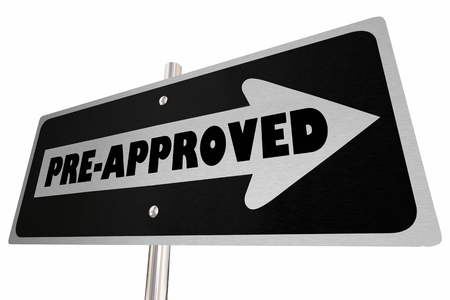 Pre-Approved Home House Buyer One Way Road Sign 3d Illustration
