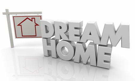Dream Home Best House for Sale Sign 3d Illustration Stock Photo