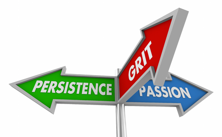 Persistence Passion Grit Determination Success Signs 3d Illustration
