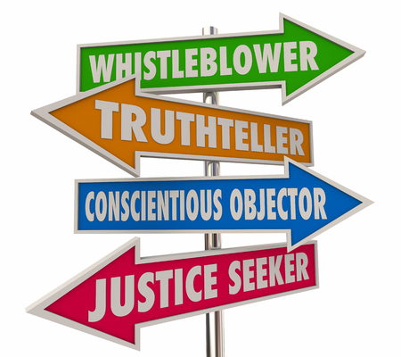 Whistleblower Words Signs 4 Arrows 3d Illustration