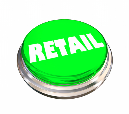 Retail Selling Store Marketing Round Button Word 3d Illustration