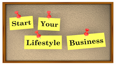 Start Your Lifesytle Business Bulletin Board Words 3d Illustration