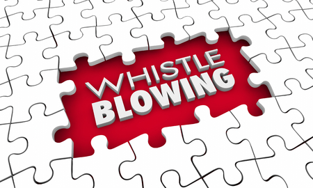 Whistleblowing Crusader Truth Teller Puzzle Pieces Hole 3d Illustration Stockfoto