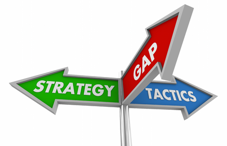 Strategy and Tactics Business Planning Goal Signs 3d Illustration 스톡 콘텐츠 - 115114830