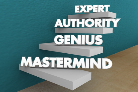 Expert Authority Genius Mastermind Steps Words 3d Illustration