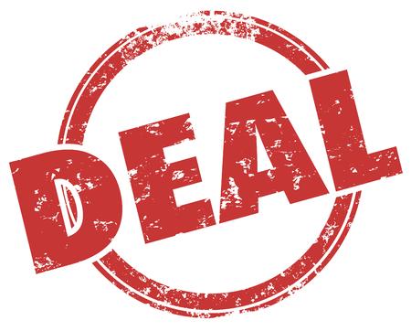 Deal Good Buy Save Bargain Stamp Word Illustration Stockfoto